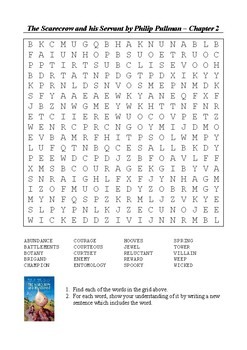 The Scarecrow and his Servant - Chapter 2 Word Search