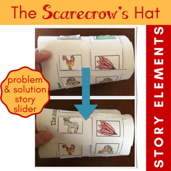 The Scarecrow's Hat Story Slider for Story Elements, Plot, Problem and Solution