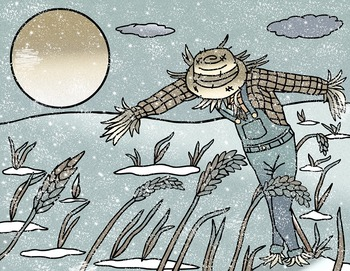 The Scarecrow story book clip art inspired by the Beth Ferry book