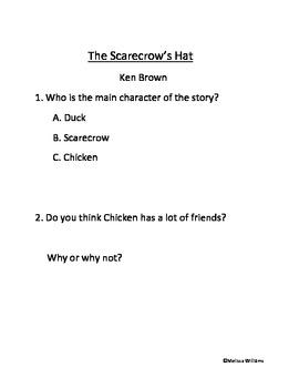 The Scarecrow's Hat Activities