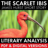 Scarlet Ibis, James Hurst, 3-day lesson, lit. analysis & writing tasks, CCSS