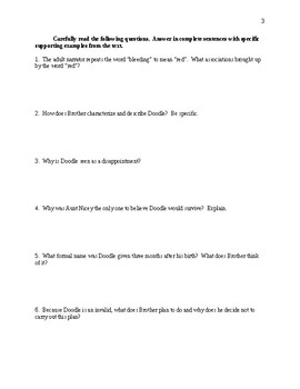 The Scarlet Ibis - Comprehensive Study Guide - CCSS Aligned