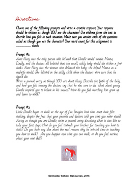 The Scarlet Ibis Creative Writing Activity