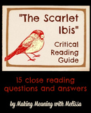 """""""The Scarlet Ibis"""" Critical Reading Guide"""
