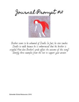 The Scarlet Ibis Journal Prompt Bundle