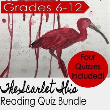The Scarlet Ibis Reading Quiz Bundle