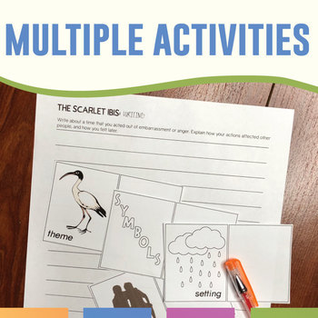 The Scarlet Ibis by James Hurst: Quiz, Interactive Notebook, and Activities