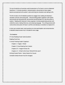 The Scarlet Letter Chapters 1-4 A Complete Unit of Guided Reading Activities