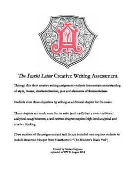 The Scarlet Letter Additional Chapter Creative Writing Assessment