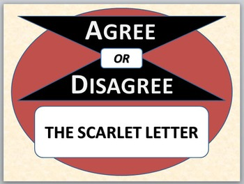 THE SCARLET LETTER - Agree or Disagree Pre-reading activity