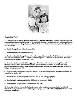 The Scarlet Letter - Analysis Questions and Key Terms