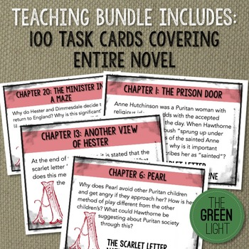 The Scarlet Letter Bundle - Task Cards, PowerPoint, Worksheets, and More!