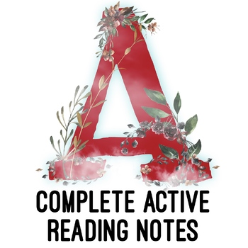 The Scarlet Letter COMPLETE Active Reading Notes & Key