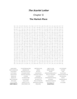 The Scarlet Letter Ch. II Vocabulary Word Search