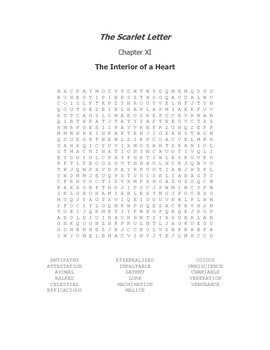 The Scarlet Letter Ch. XI Vocabulary Word Search
