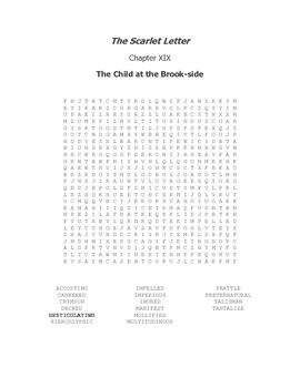 The Scarlet Letter Ch. XIX Vocabulary Word Search