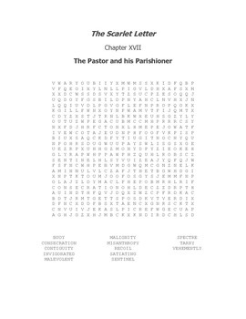 The Scarlet Letter Ch. XVII Vocabulary Word Search