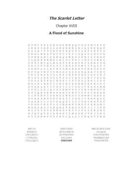 The Scarlet Letter Ch. XVIII Vocabulary Word Search