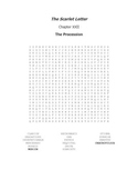 The Scarlet Letter Ch. XXII Vocabulary Word Search