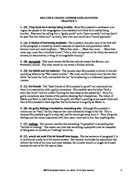 The Scarlet Letter Chapter 11 English Skills worksheet by Applied Practice