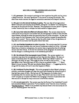 The Scarlet Letter Chapter 13 English Skills worksheet by Applied Practice