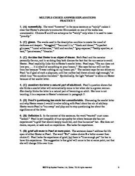 The Scarlet Letter Chapter 16 English Skills worksheet by Applied Practice