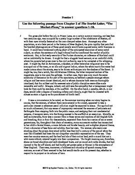 The Scarlet Letter Chapter 2 English Skills worksheet