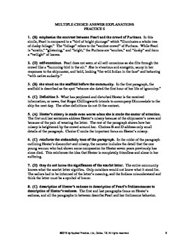 The Scarlet Letter Chapter 22 English Skills worksheet by Applied Practice