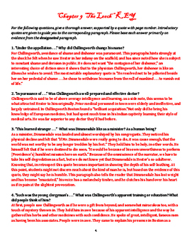 The Scarlet Letter Chapter 9 Reading Guide & Prompt