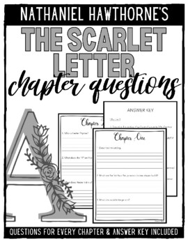 The Scarlet Letter Chapter Questions by Katie is a Teacher | TpT
