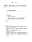 The Scarlet Letter - Chapter Questions, Journal Topics and More