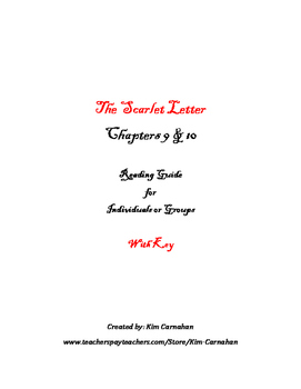 The Scarlet Letter Chapters 9 & 10 Theme, Character & KEY