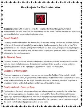 The Scarlet Letter Novel Unit
