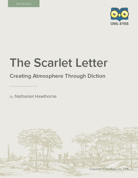 The Scarlet Letter: Creating Atmosphere Through Diction Lesson Plan