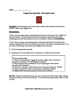 The Scarlet Letter--Creative Speech Project