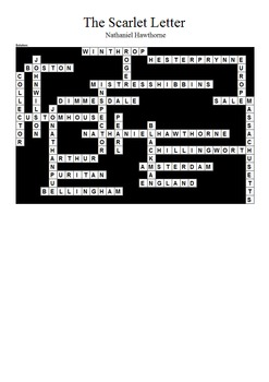 The Scarlet Letter - Crossword Puzzle