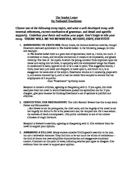Theme Analysis Essay The Scarlet Letter Essay  How To Be Successful In College Essay also Essay On Dna The Scarlet Letter Essay By Catelin Dziuba  Teachers Pay Teachers Best Essay Writer Service
