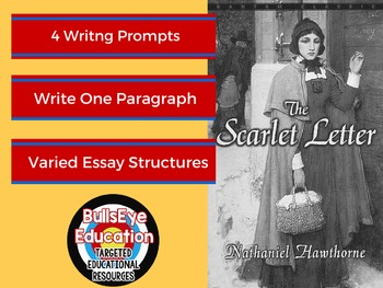 The Scarlet Letter: Four Writing Prompts to Produce Single Paragraph