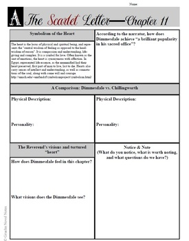 The Scarlet Letter Whole Novel Comprehension Set