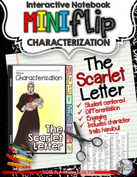 THE SCARLET LETTER: INTERACTIVE NOTEBOOK CHARACTERIZATION MINI FLIP