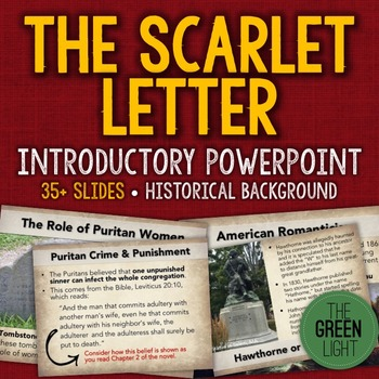 The Scarlet Letter Introductory PowerPoint, Activity, and