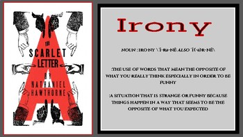 The Scarlet Letter Irony Chart