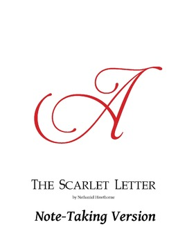 The Scarlet Letter w/ 2 Note-taking Versions