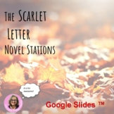 The Scarlet Letter Novel Study Stations Distance Learning