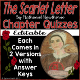 The Scarlet Letter Quizzes for Entire Novel - Nathaniel Hawthorne