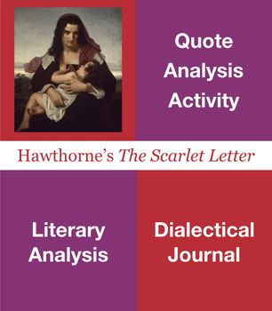 The Scarlet Letter Quote Analysis, Dialectical Journal, Close Reading