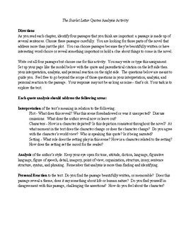 dialectical journal scarlet letter chapter 1