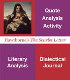 The Scarlet Letter Quote Analysis, Dialectical Journal, Cl