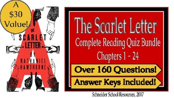 The Scarlet Letter: Reading Quiz/Novel Guide Complete Bundle