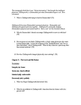 The Scarlet Letter Study Guide Chapters 9-12